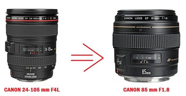 CANON 24 105 MM CANON 85 MM