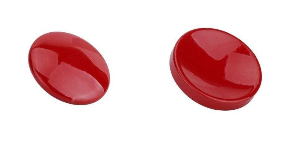 bouton de déclenchement convex ou concave rouge