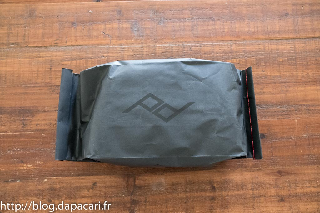 test peak design sling 5L packaging
