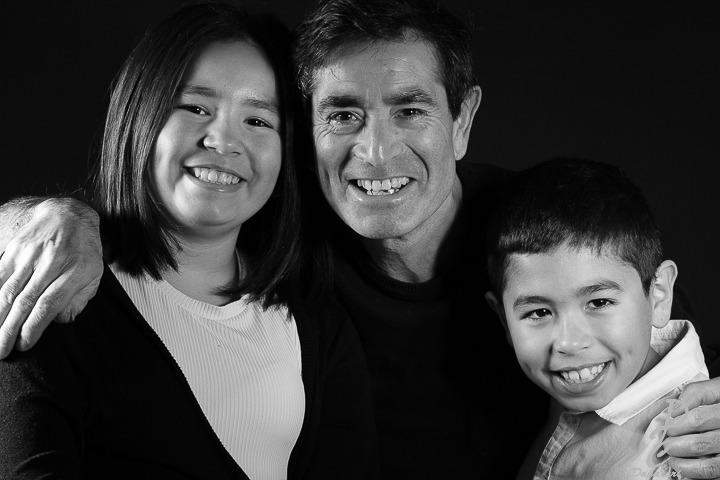 photo de famille en studio photo