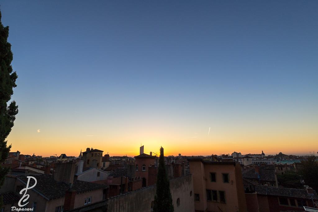 photo lever de soleil grand angle