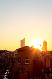 mode de mesure de lumière photographier lever de soleil