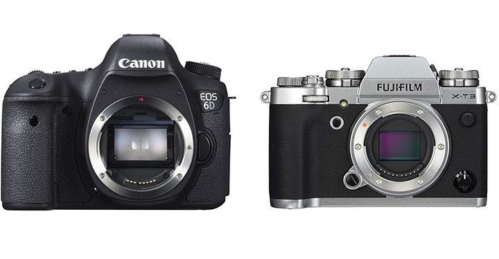 Fujifilm X-T3 VS Canon 6d plein format