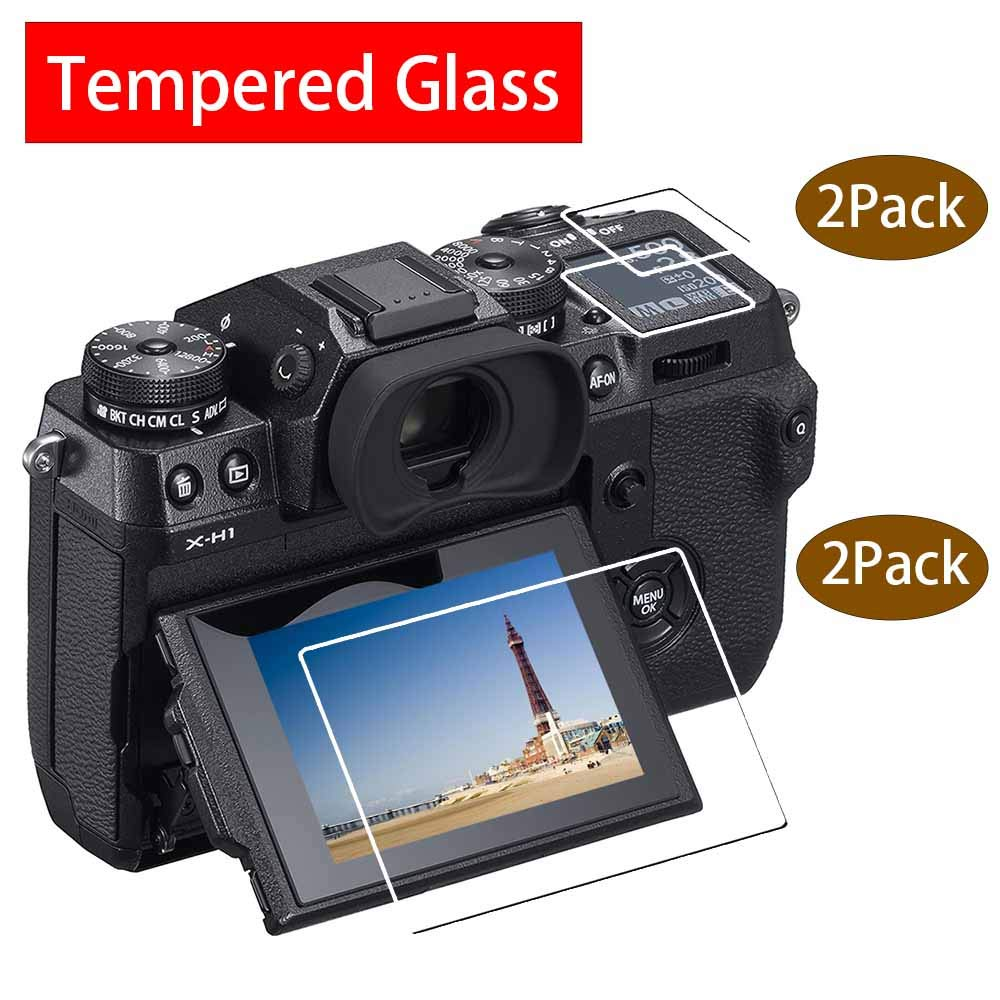 avis verre trempé + verre trempé écran du dessus Fujifilm X-H1