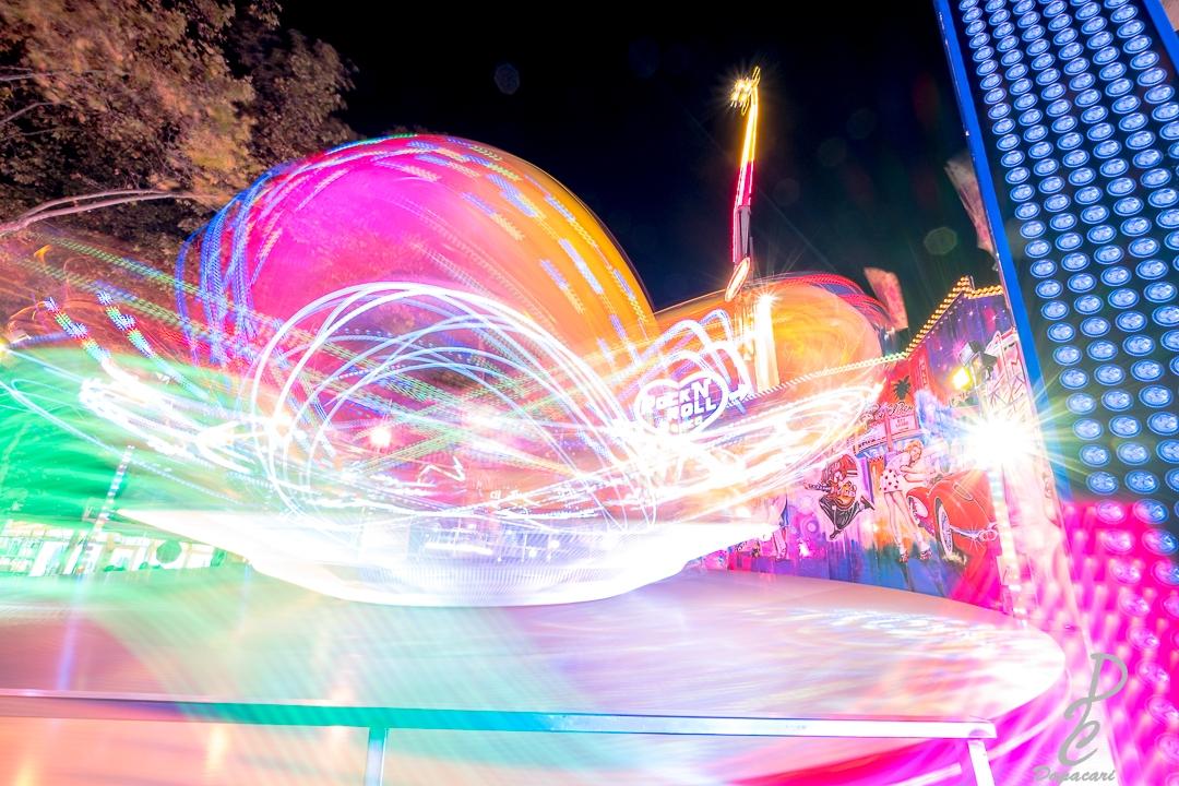 Usage Bolint BL-P1 à la fête foraine en pose longue ambiance coloré