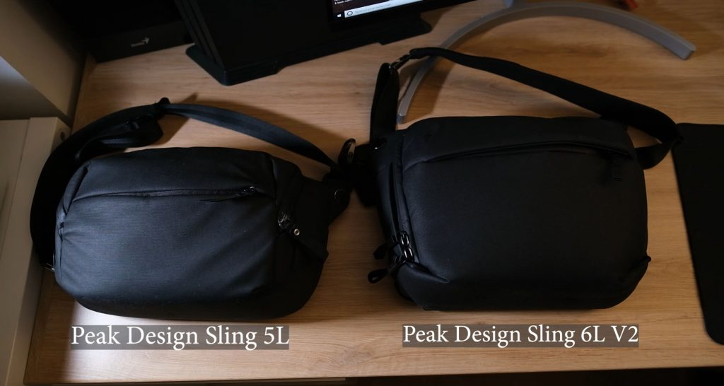 peak design sling 5l vs peak design sling 6l v2
