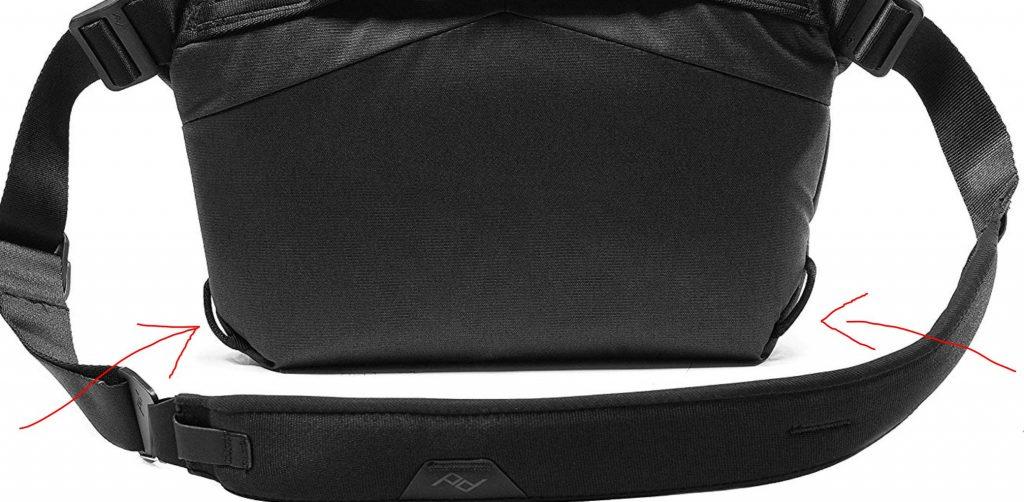 peak design sling lanière dessous sac
