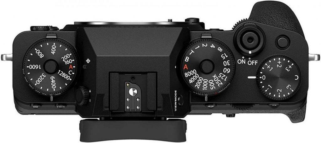 Fujifilm X-T4 vue du dessus