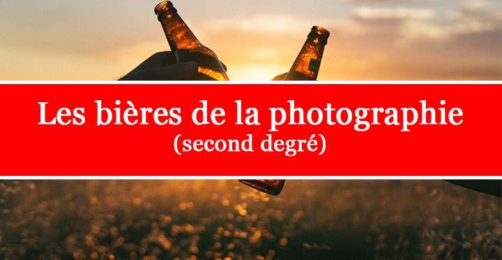 une bière en photographie critique facilement sans rien apporter