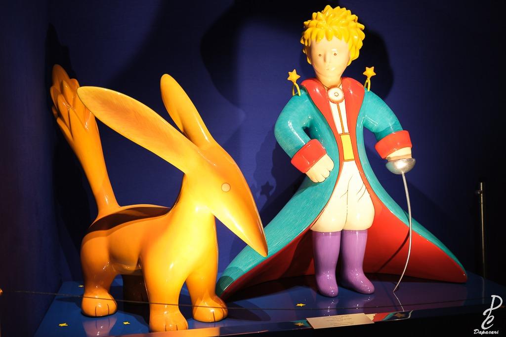 Sculpture du petit prince et le renard à Lyon la sucrière