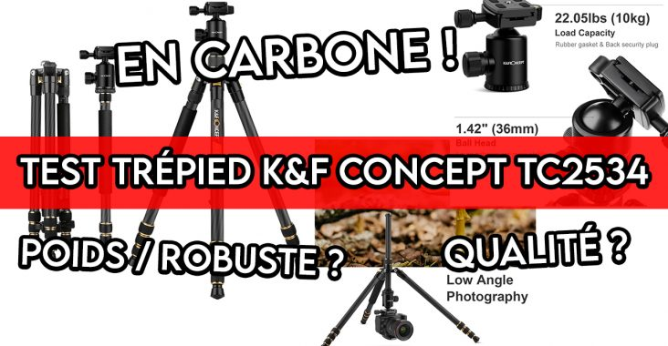 test du trépied en carbone KF CONCEPT TC2534