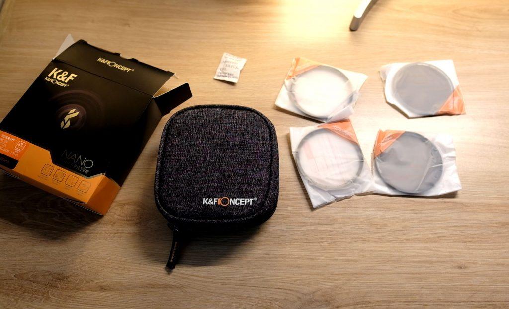 déballage filtre magnétique K&F Concept